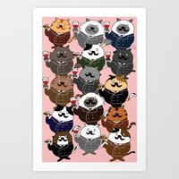 FAT CAT Art Print