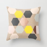 Art Rhombus Throw Pillow