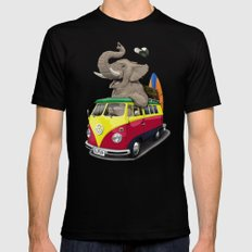 Pack the Trunk (wordless) Mens Fitted Tee Black SMALL