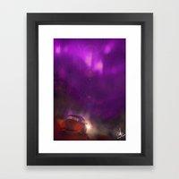 the pink and violet Framed Art Print