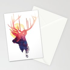 The burning sun Stationery Cards