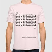 The Sacred Chant of the Homosexual Mens Fitted Tee Light Pink SMALL