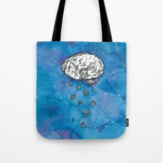 My brain in the cosmos Tote Bag