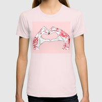 I Heart You Womens Fitted Tee Light Pink SMALL