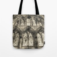 Rochester Cathedral Stained Glass Windows Vintage Tote Bag