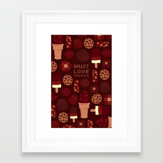 Must Love Chocolate Framed Art Print