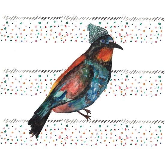 Birds and hats! Art Print