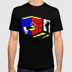 Rubix Cubicle SMALL Mens Fitted Tee Black