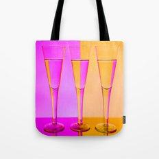 Three Coloured / Colored Wine Glasses  Tote Bag