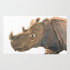 Thinking Rhinoceros Rug
