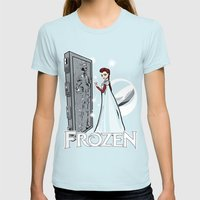 Carbon Frozen Womens Fitted Tee Light Blue SMALL