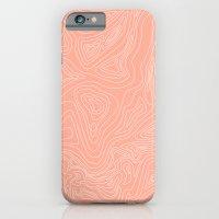 Ocean Depth Map - Coral iPhone 6 Slim Case