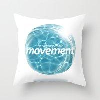 Create Movement Throw Pillow