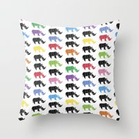 Rhino Paper Throw Pillow