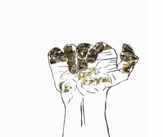Golden hand Canvas Print