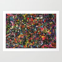 Overstocked Lake Art Print