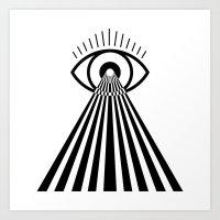 Laser Eye Art Print