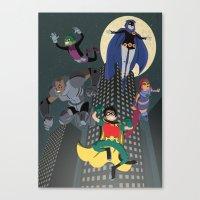 Teen Titans Canvas Print