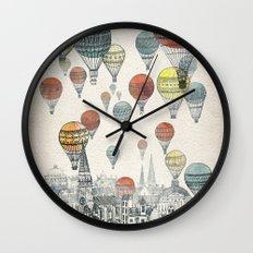 Voyages over Edinburgh Wall Clock