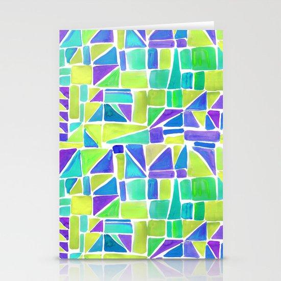 Watercolour Shapes Lemon Stationery Card