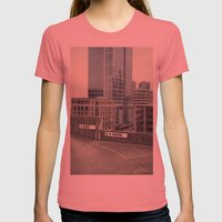 Exit Womens Fitted Tee Pomegranate SMALL