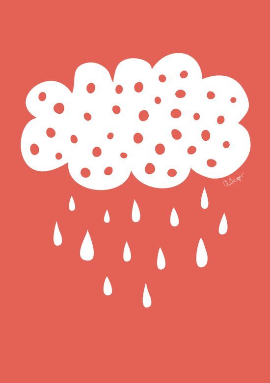 Red cloud Art Print