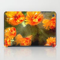 Orange Poppy Abstract iPad Case