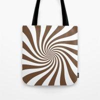 Swirl (Coffee/White) Tote Bag