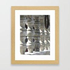 Knob and Loop Framed Art Print