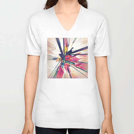 Abstract Geometry V-neck T-shirt