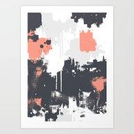 Abstract Paint Pattern 0… Art Print