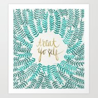 Treat Yo Self – Gold &… Art Print