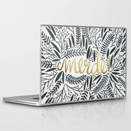 Laptop & iPad Skin featuring Pardon My French – Bla… by Cat Coquillette