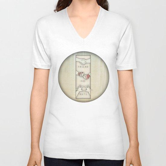 NUTS V-neck T-shirt