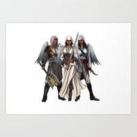 Warrior Angels Art Print