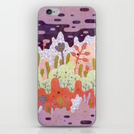 iPhone & iPod Skin featuring Crystal Forest by LordofMasks