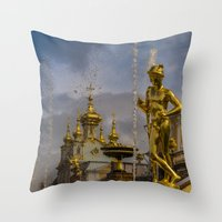 Peterhof palace Throw Pillow
