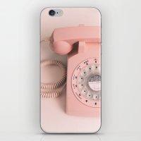 vintage PHONE pink iPhone & iPod Skin