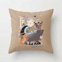 The Last Man In Fukushim… Throw Pillow