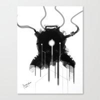 Bioshock Evolve Suit Design FanArt Canvas Print