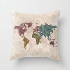 Paisley World Throw Pillow