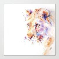 Patience . Lion Canvas Print