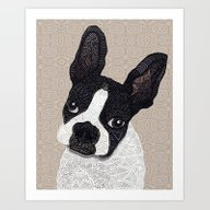 Boston Terrier 2015 Art Print