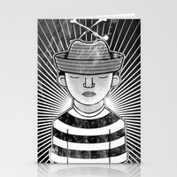 Fisher Man B/W Stationery Cards