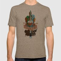 Tattooine Rebel Mens Fitted Tee Tri-Coffee SMALL