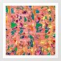 Multicolored joyful background Art Print