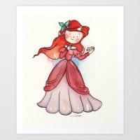 Ariel human Art Print