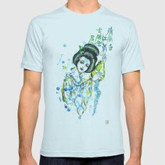 Aquarius, The Freedom Lover: Jan 21 - Feb 19 / Original gouache on paper Mens Fitted Tee Light Blue SMALL