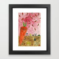 Everyone Love Carrot Framed Art Print