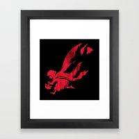 Little Red Hood Framed Art Print